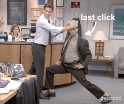 laatste-klik attributiemodel meme