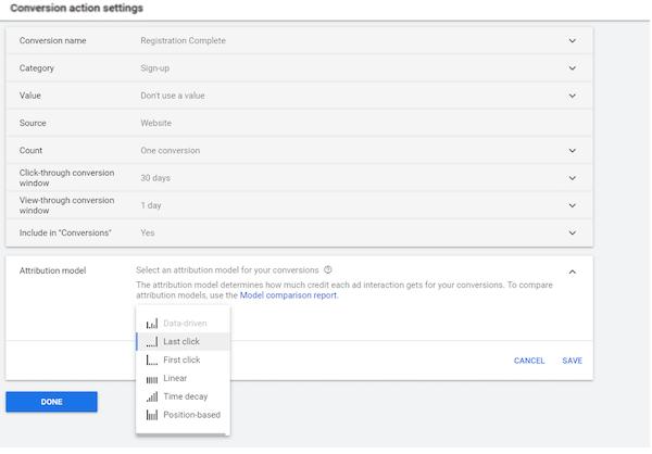 conversieactie instellen in Google Ads