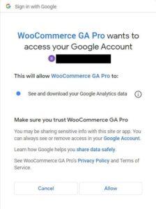 Toegang tot Google Analytics WooCommerce